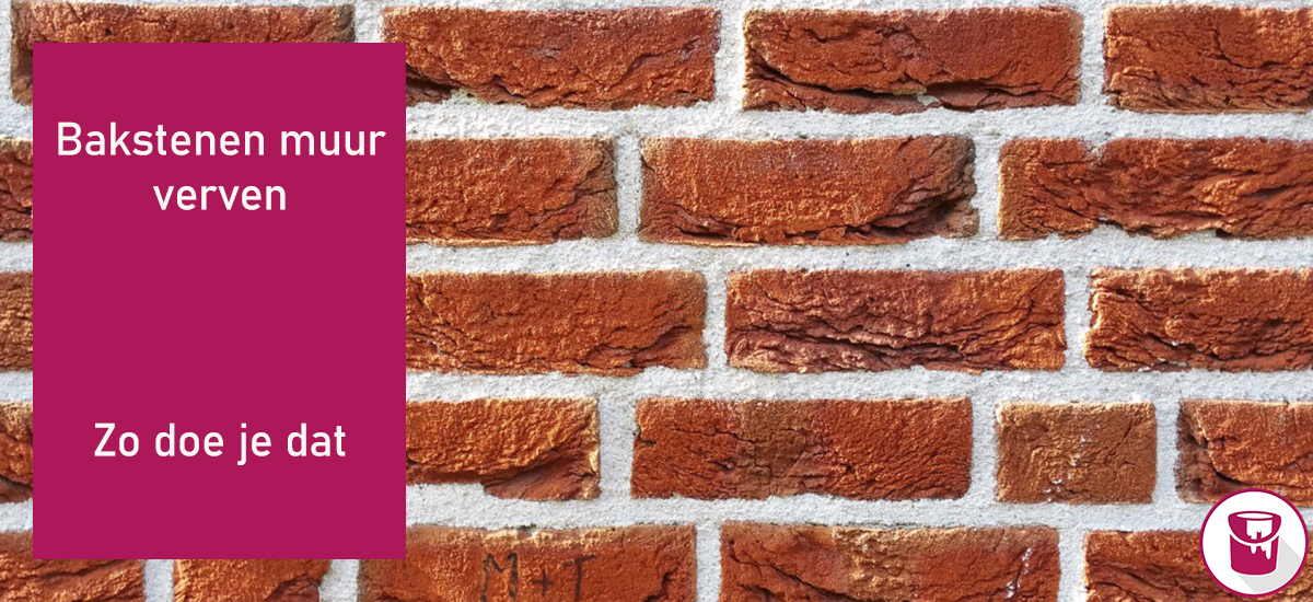 Bakstenen muur verven?