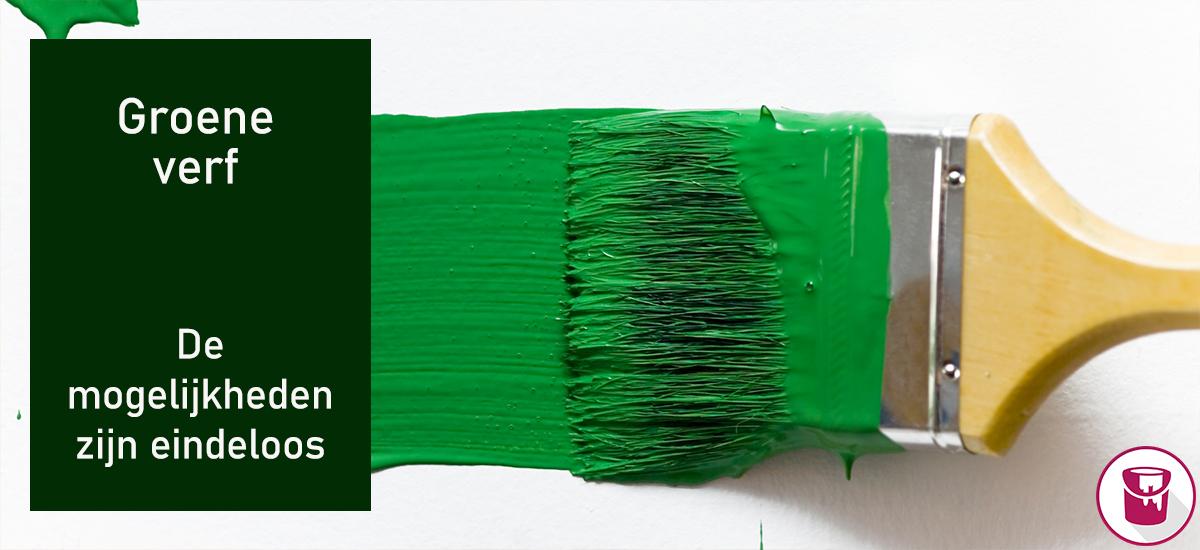 Groene verf: de mogelijkheden zijn eindeloos