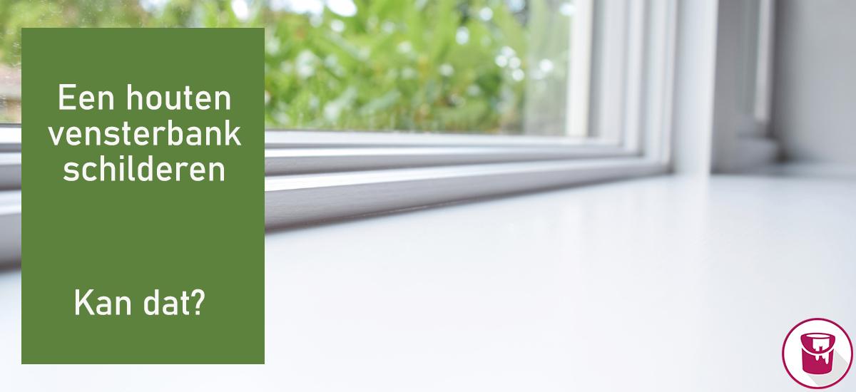 Kun je een houten vensterbank schilderen?