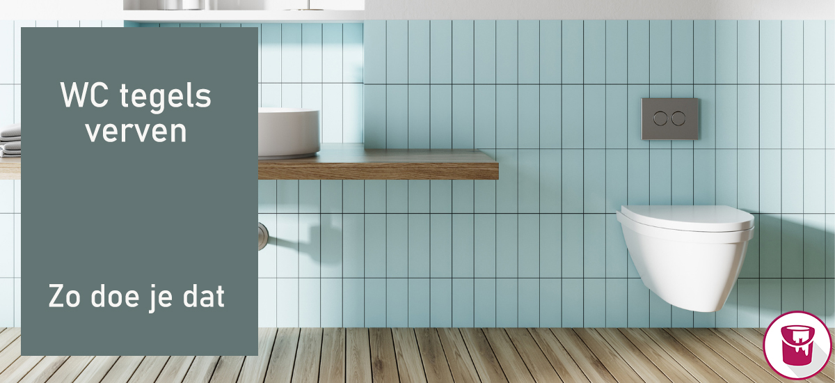 WC tegels verven: geef het toilet een nieuwe look