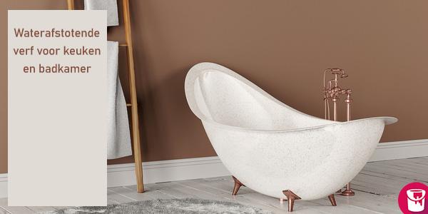 Waterafstotende verf voor badkamer of keuken