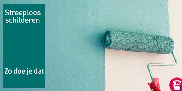 Zonder strepen je muren, plafonds of deuren verven? Zo doe je dat