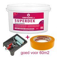 Verfwinkel.nl Compleet Muurverfpakket 100% Wit tbv 60m2